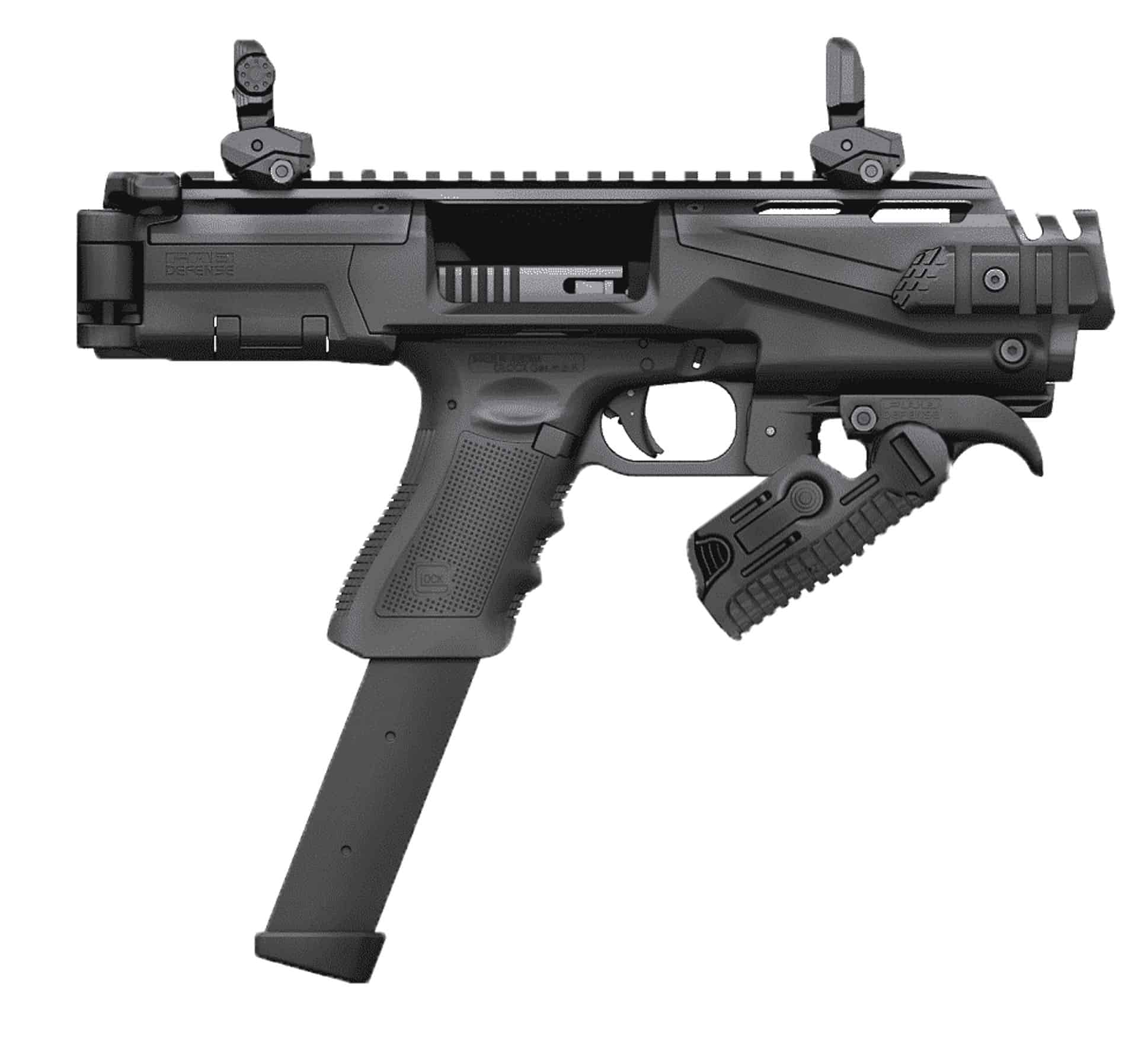 002BS-ZFI PDW Ultimate Truck Gun - NON NFA KPOS Scout w/ folding angled foregrip & safety