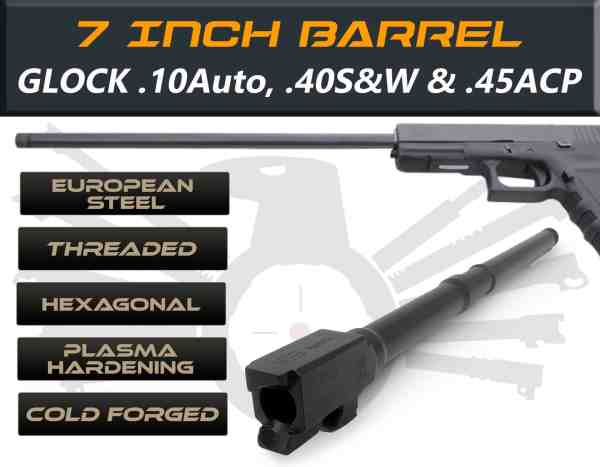 "Glock 21 .40 S&W caliber - 7.5"" Threaded Barrel"