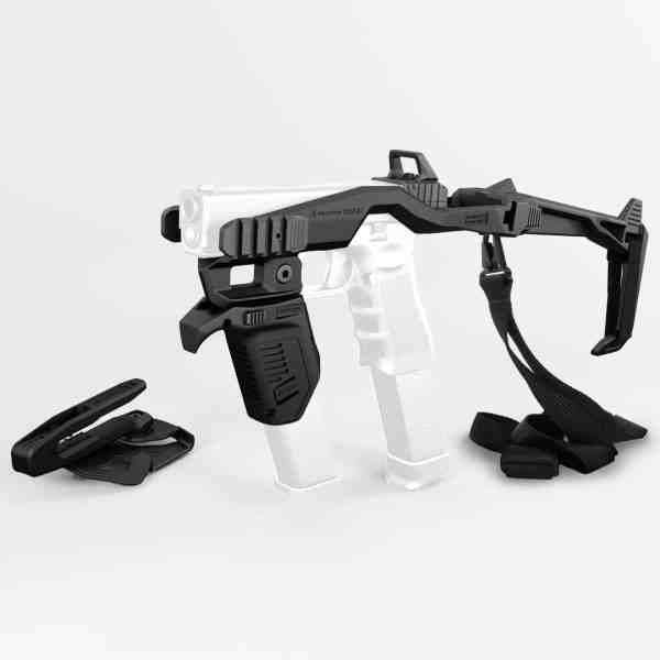 000BS - 20/20 Stabilizer Conversion Kit For Glock - with Holster + Sling + MG9 Angled Mag Pouch