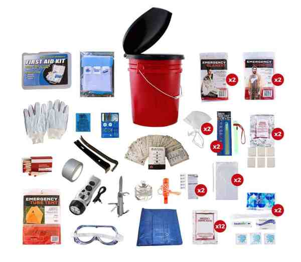 2 Person Bucket Survival Kit readywise