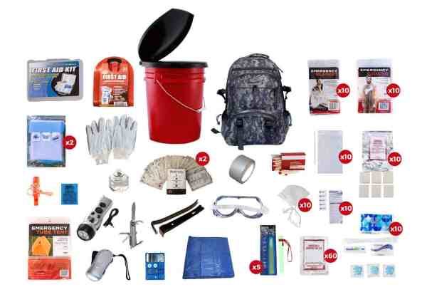 10 Person Survival Kit (72+ Hours) CAMO style survival readywise