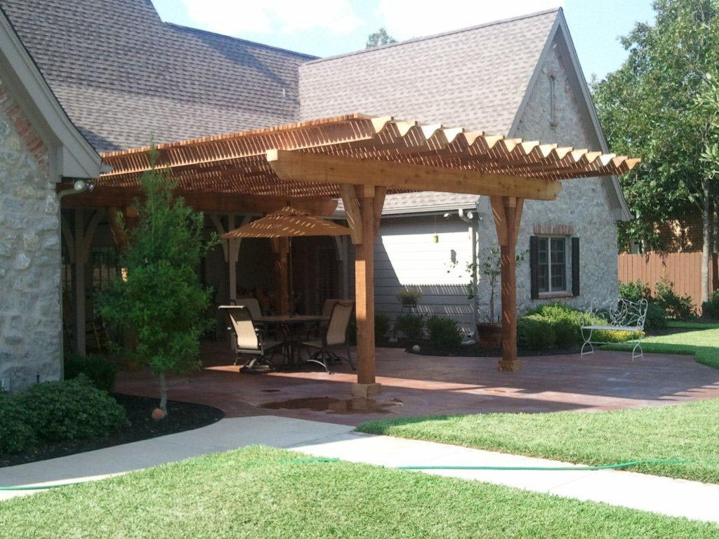 Pergola With Covered Roof   Pergola Design Ideas on Covered Pergola Ideas  id=86235