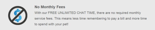 unlimited chat time with Petchatz