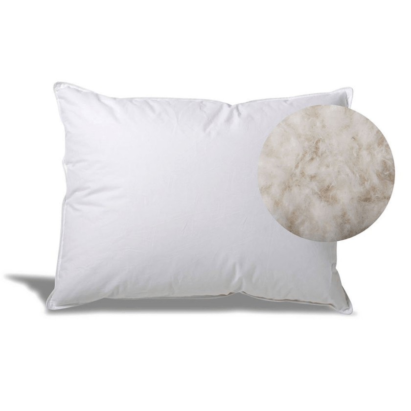 Extra Soft Down Filled Pillow for Stomach Sleepers w/ Cotton Casing - Filled and Finished in the USA, Queen