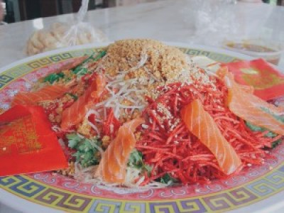 A delicious meal prepared with details of cooking.