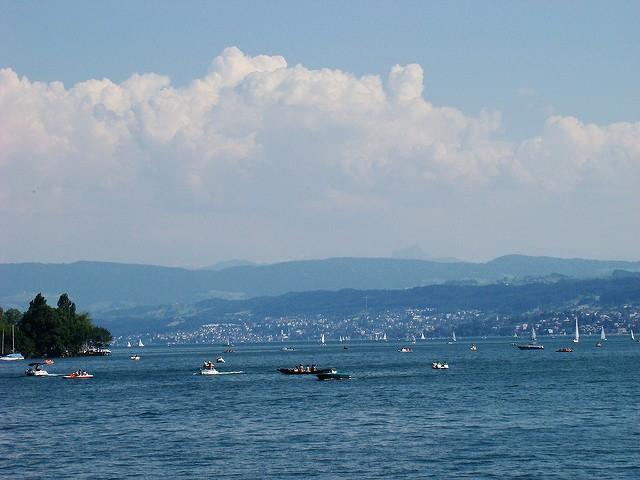 Boat ride on Lake Zurich, Switzerland