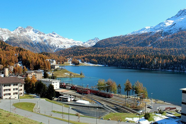 St.Moritz lake, Switzerland