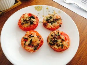 Baked Parmesan Tomatoes-Stuffed Vegetables