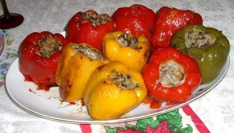 Stuffed vegetables-stuffed peppers
