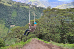 Swing at the end of the world Banos, Ecuador, Surreal places