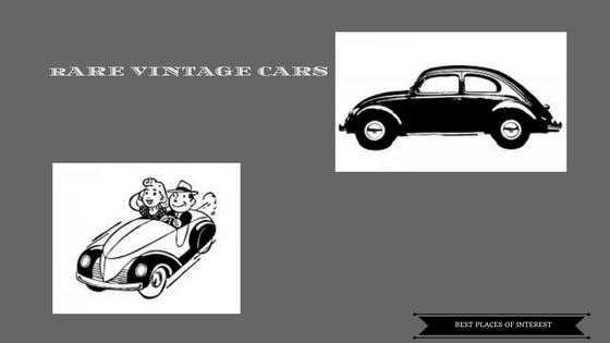 Rare vintage cars museum