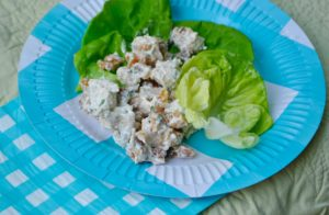 TARRAGON WALNUT CHICKEN SALAD- Tarragon recipes- Image credit- recipedoodle.wordpress.com