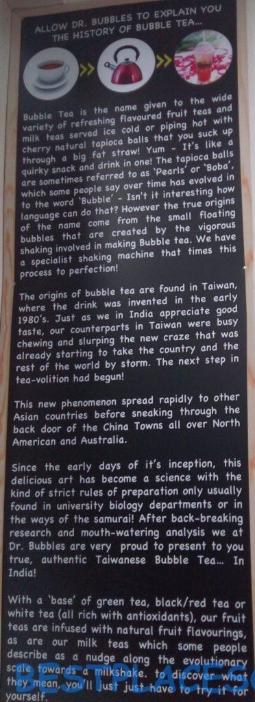 Bubble tea description