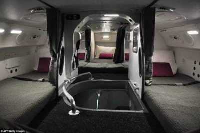 Cabin crew rooms for resting
