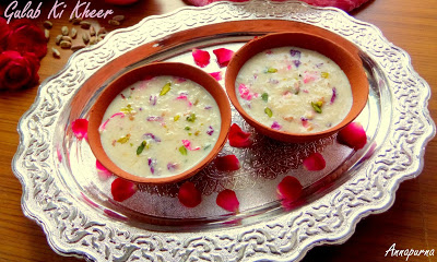 Gulab Kheer- Eid special recipes