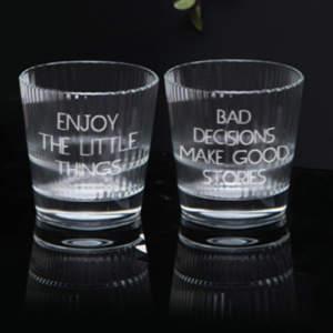 Whiskey glasses for brother on Raksha Bandhan
