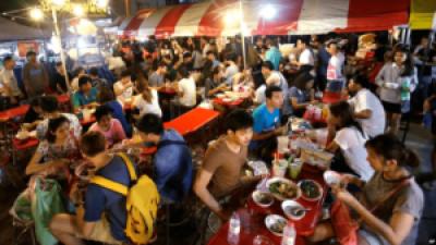 eating street food, fun retreat