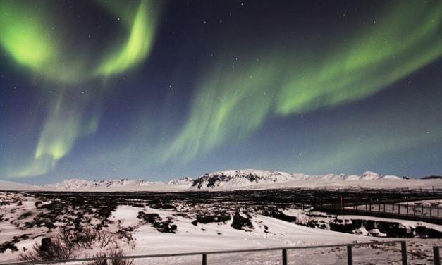 Northern Lights from Reykjavik