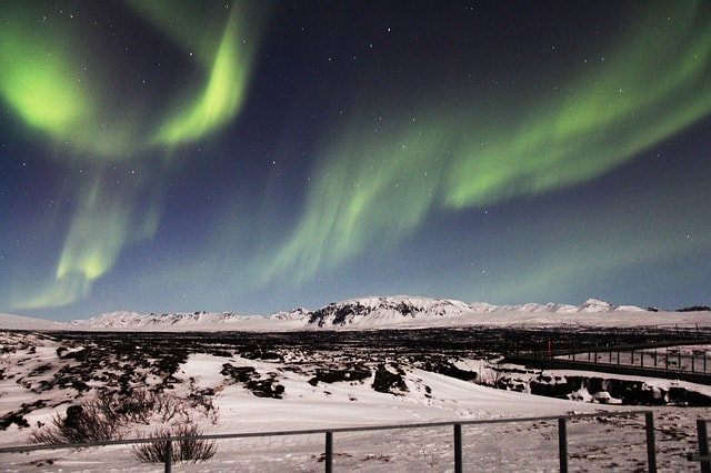Northern Lights from Reykjavik