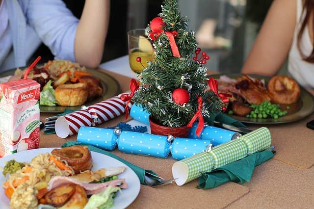 Food in a Christmas home