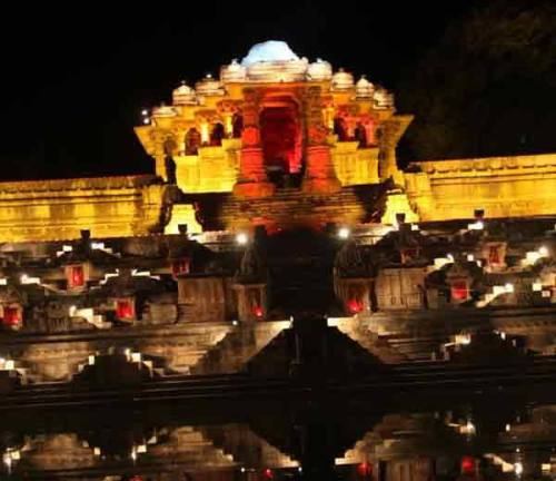 Night View at Modhera Dance Festival