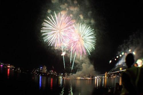 Parramatta, Sydney Australia Fireworks Night Celebration