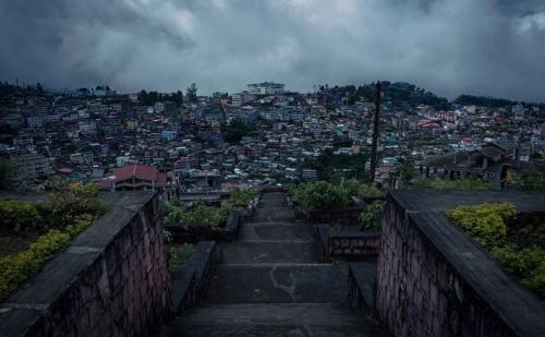 View of Kohima City, Northeast India- Namaste India