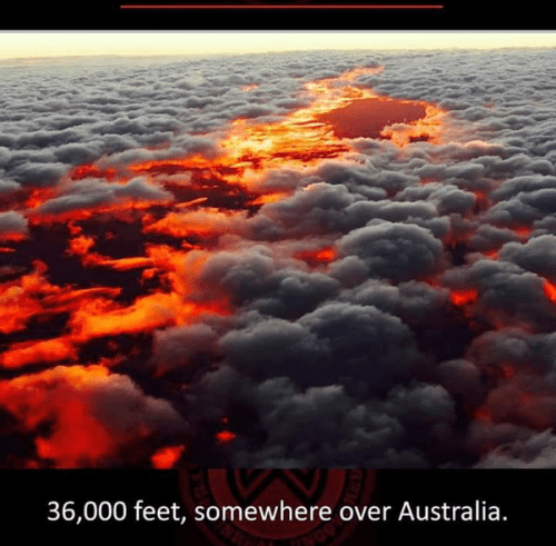 36000 feet somewhere over Australia, breathtaking places in the world
