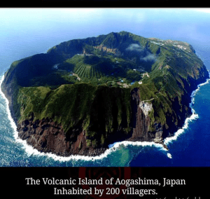 he volcanic Island of Aogashima, Japan, breathtaking places of the world