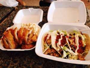 Photo of L&L Hawaiian Barbecue - San Diego, CA, United States. Mini chicken, street food USA