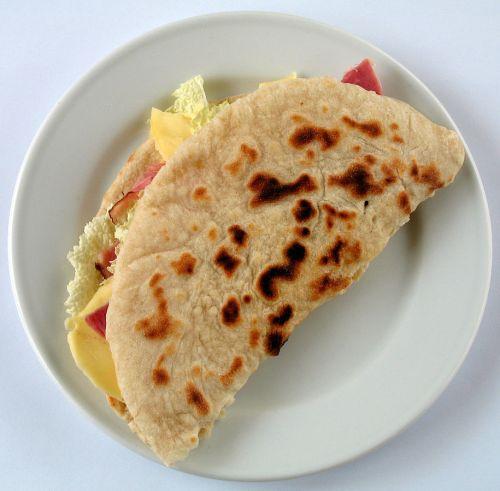 Piadina Riminese (Italian filled flatbread) street food Italy