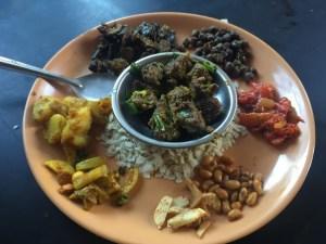 choila set, street food in Nepal