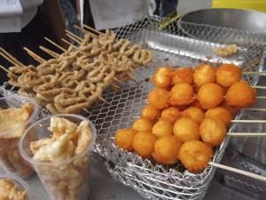 Kwek kwek street food Phillipines