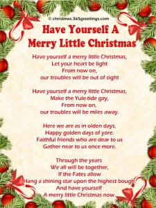 Have yourself a Merry little Christmas carol