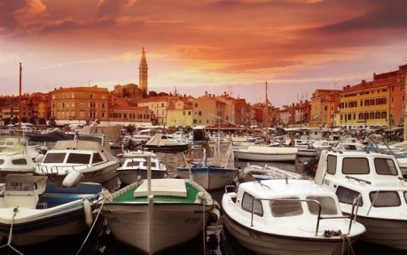 Croatia city Rovinje port European country