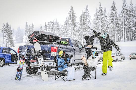 mode of transport for ski
