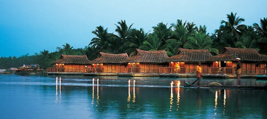 Floating cottages in Poovar Estuary, honeymoon Kerala