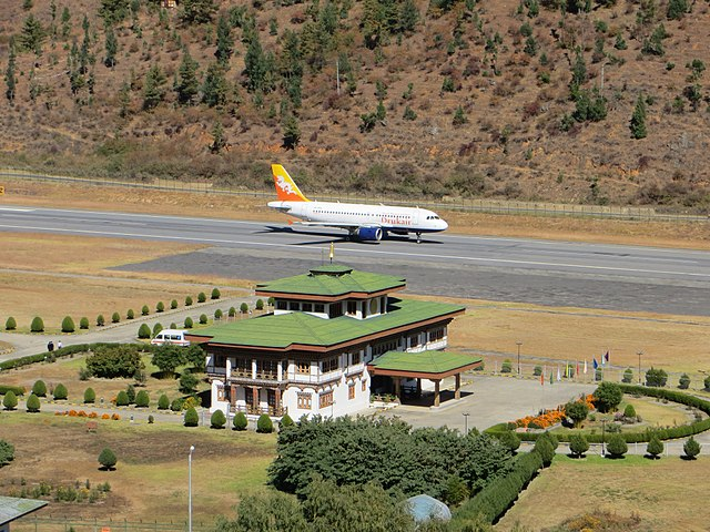Paro day, one among the most dangerous airports in the world