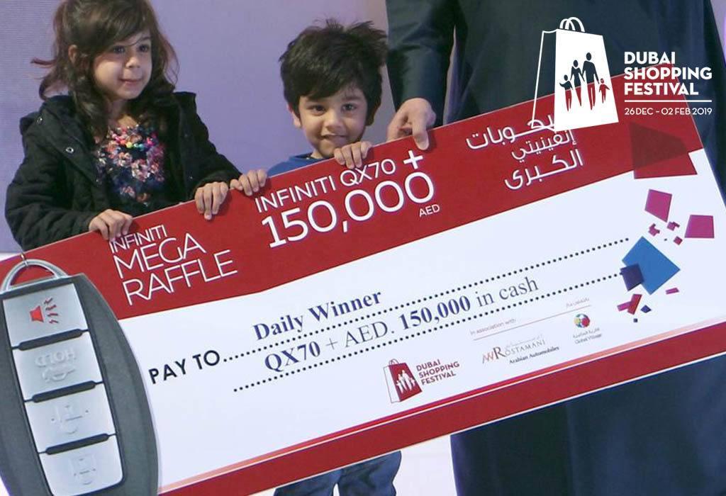 raffle draws in Dubai shopping festival