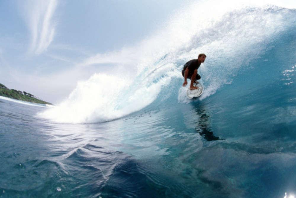 Varkala surfing