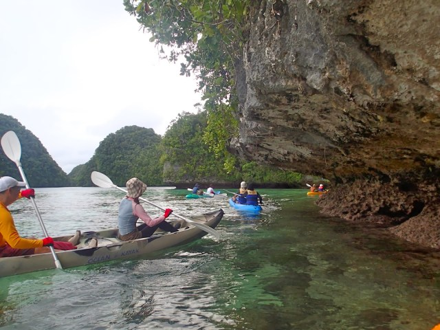 kayaking in rock island