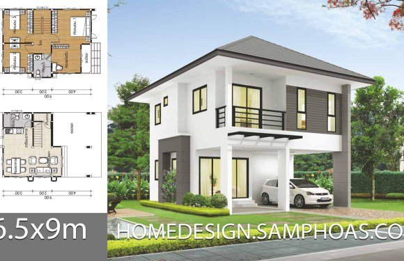 Small house plans 6.5x9m with 3 bedrooms