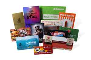 Group of different plastic cards from discount to buisiness cards