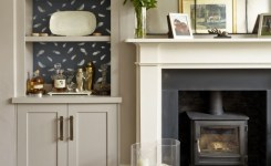 Example Of Fireplace Wallpaper Application