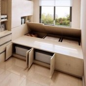 55 Model Bedroom Furniture Design Ideas For Small Functional Spaces 21