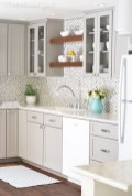72 Beautiful Kitchen Countertop Ideas with White Cabinets Look Luxurious 2208