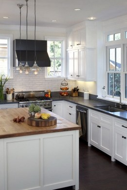 72 Beautiful Kitchen Countertop Ideas with White Cabinets Look Luxurious 2210