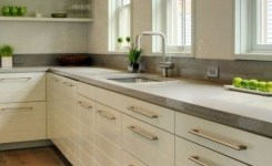 72 Beautiful Kitchen Countertop Ideas With White Cabinets Look Luxurious 32