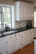 72 Beautiful Kitchen Countertop Ideas with White Cabinets Look Luxurious 2198