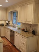 72 Beautiful Kitchen Countertop Ideas with White Cabinets Look Luxurious 2235